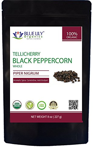 Blue Lily Organics Tellicherry Peppercorns
