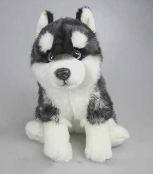 Husky Alaskan Malamute sentado * 30 cm * Peluche trineo perro perro de peluche