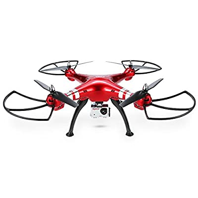 Syma X8HG 8.0 MP HD Camera Drone with Altitude Hold & Headless Mode 3D Flips RC Quadcopter by GoolRC