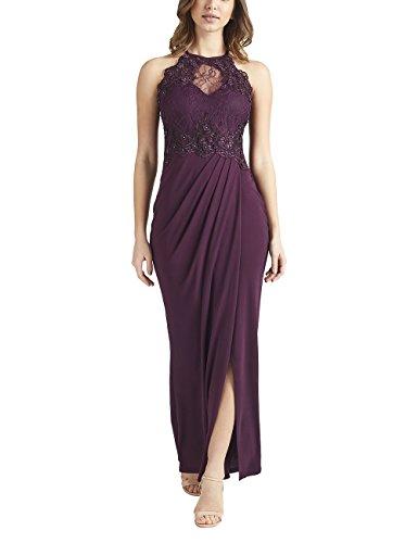 Lipsy Womens 3D Floral Pearl Detail Maxi Dress Purple US 0 (UK 4)