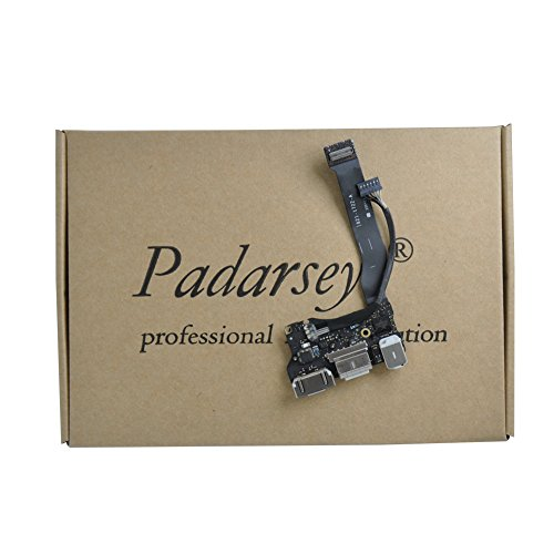 Padarsey New DC-in Power Jack I/O Board with USB Audio MagSafe 2 Flex Cable fit for MacBook Air 13