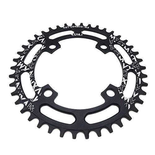 VXM 104BCD Chainring 40T 42T 44T 46T 48T 50T 52T【2019 CNC 7075-T6 Aluminum】 Narrow Wide Chain Ring for Road Bike,Mountain Bike,BMX Bike,MTB Bike Parts (42T) (Best Recumbent Road Bike 2019)