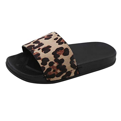Women's Leopard Slipper Clearance Sale, NDGDA Ladies Summer Retro Rome Fashion Casual Home Slippers Beach Shoes ()