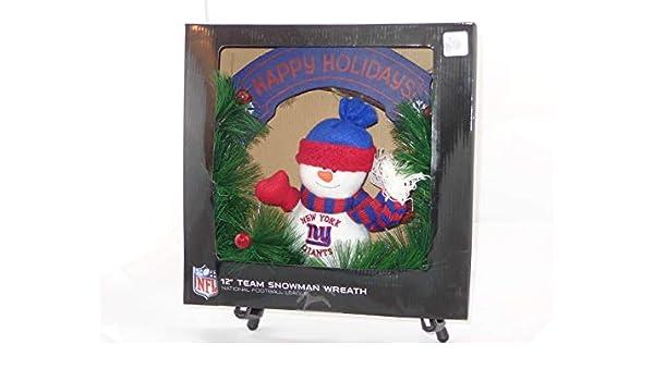 d80f9db31ed Amazon.com  SC Sports NFL 12 New York Giants Snowman Wreath  Home   Kitchen