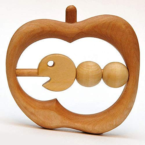 Hungry Caterpillar Wooden Teething Toy Montessori Wooden Toy ()