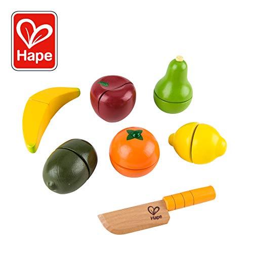 Play Healthy Lunch - Award Winning Hape  Fresh Fruit Wooden Kitchen Play Food Set