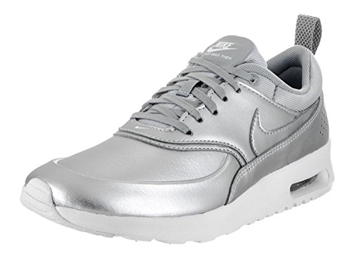 pretty nice 087e2 fff20 Galleon - NIKE Womens Air Max Thea SE Running Trainers 861674 Sneakers Shoes  (US 9.5, Metallic Silver 001)