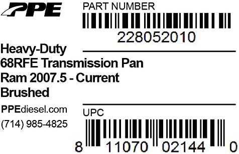 PPE 68RFE Transmission Pan For 2007.5-Current Dodge Cummins 6.7L Raw Finish