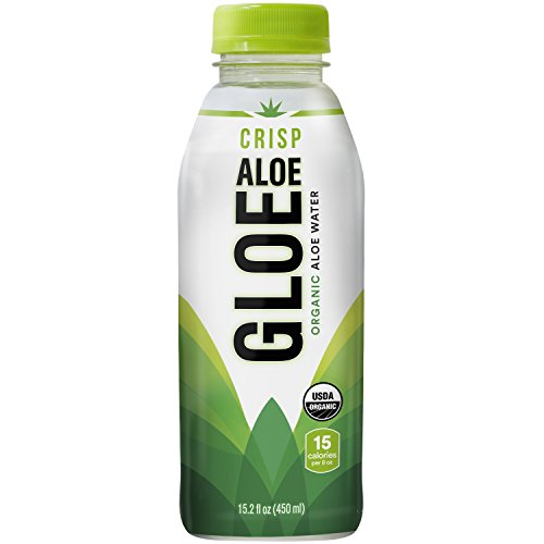Aloe Gloe, Organic Aloe Water, Crisp Aloe, 15.2-Ounce (Pack of 12)