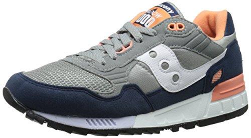 Saucony Originals Men's Shadow 5000 Classic Retro Running Shoe, Grey/Blue/White, 10 M US