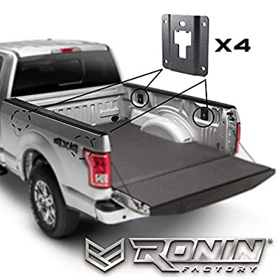 Ronin Factory Boxlink Cleats & Plates for Ford F150 Combo Pack - Set of 4 Tie Down Brackets & Set of 4 Boxlink Bed Cleats - All Hardware Included: Automotive