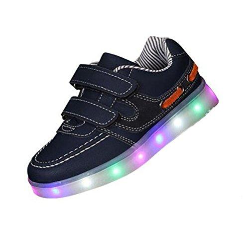 (Présents:petite serviette)JUNGLEST® - 7 Couleur Mode Unisexe Homme Femme USB Charge LED Chaussures Lumière Lumineux Clignotants Chaussures de marche Haut-Dessus LED Ch c22