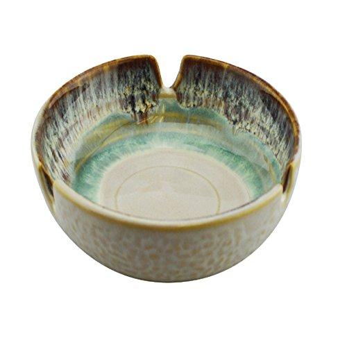 Designer Ashtray - Ashtray Glazed Designer Ceramic Beautifully Handcrafted Cigarette Cigar Ashtray (Turquoise)