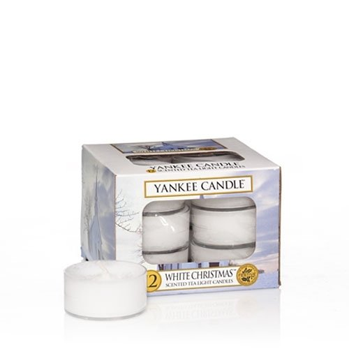 (Yankee Candle White Christmas Tea Light Candles, Festive Scent)