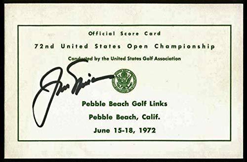 Jack Nicklaus Signed Official 1972 US Open Scorecard #AA01986 - PSA/DNA Certified - Autographed Golf Scorecards