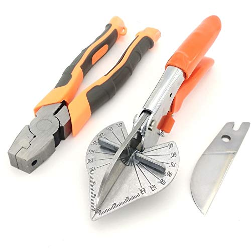 New Design 1set 45 120 Degree Multi Angle Mitre Siding Wire Duct Cutter PVC Pe, Piping Trimming Tool - Model Plank Cutter, Mitre Shear, Asbestos Siding Cutter, Duct Angle Tool, Multi Angle Tool by Sunshine Bar Club