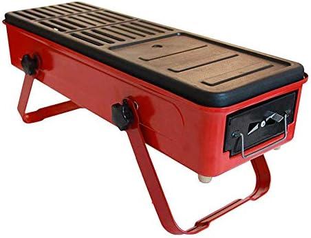 HYDDG Holzkohle Grill Grill, Draussen Mini BBQ Grill, Haushalt Falten tragbar Rauchlos Grillen Werkzeuge, zum 3-5 Personen Camping Wandern Picknick Rucksack