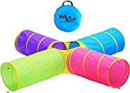 Hide N Side Kids Play Tunnels, Indoor Outdoor Crawl Through Tunnel for Kids Dog Toddler Babies Children , Pop