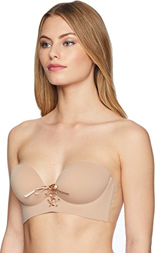 Fashion Forms Women's U Plunge Cleavage Enhancement Backless Strapless Bra Nude D - Fashion Forms Adhesive