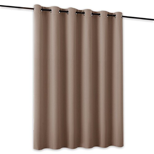 RYB HOME Portable Light Block Room Divider Large Curtain Blind Screen Keep Cold Out Insulated Panel for Coffee Shop/Office/Loft/Shared Apartment, Wide 10ft by Long 8ft, Cappuccino, 1 Piece