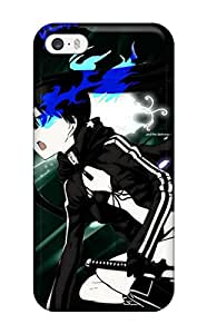 Hot Tpu Cover Case For Iphone 5/5s Case Cover Skin Black Rock Shooter