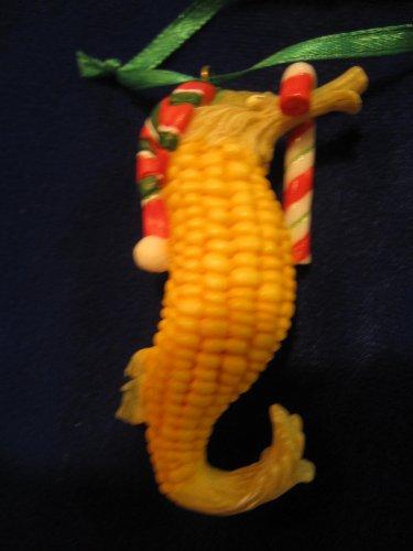 Home Grown Sweet Corn Sea Horse Ornament
