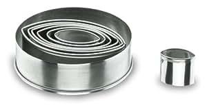 Lacor 68067 - Caja 7 cortapastas oval. lisos, inox.