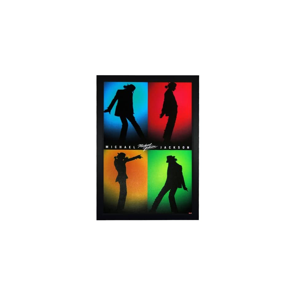 Michael Jackson, Silhouettes Shadow 24x36 Framed Celebrity Poster (E1 1084)