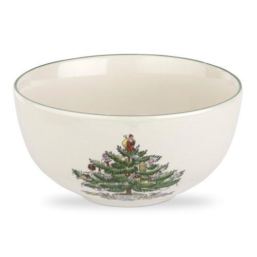 Spode Christmas Tree Fruit Salad Bowl, 5-1/2-Inch, Set of (Earthenware Serving Bowl)