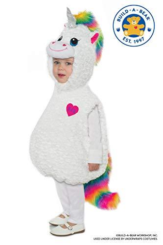 Dancing Bear Baby Halloween Costume (Underwraps Kid's Build-A-Bear Color Craze Unicorn Toddler's Costume Childrens Costume, Multi,)