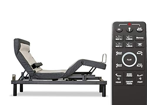 Sven & Son Queen Adjustable Bed Base Frame (Individual Head Tilt & Lumbar) USB Ports, Zero Gravity, Anti Snoring, Interactive Dual Massage (Adjustable Base Only, Queen)