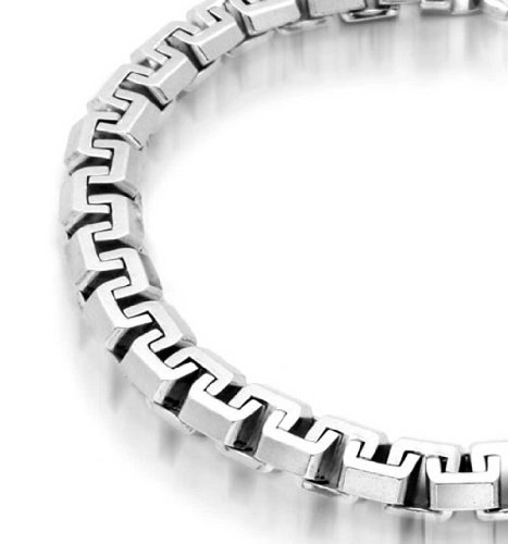 Solid Heavy Strong Franco Square Link Chain Bracelet For Men 925 Sterling Silver Made In Italy 8.5In 2