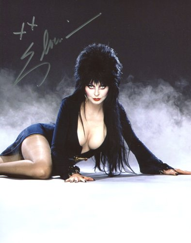 Cassandra Peterson Signed / Autographed Elvira Mistress of the Dark 8x10 glossy photo. Includes Fanexpo Fanexpo Certificate of Authenticity and Proof. Entertainment Autograph Original.