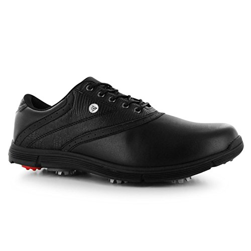 Dunlop Mens Classic Golf Shoes Lace Up Sports Spiked Cushioned Ankle Footwear White/Black fdfjMb0Hr7