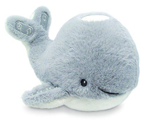 Kids Preferred Carter's Plush Whale Projector with Music, Nature Sounds, and Color Changing Lights, 5.5 Inches