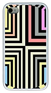 iPhone 4S Case,Optical Illusion TPU Custom iPhone 4/4S Case Cover Whtie