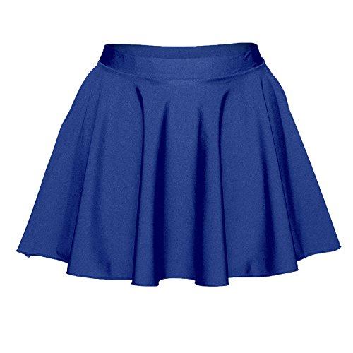 pour Nylon femme en Marine Starlite circulaire Bleu Lycra Jupe qwxOg