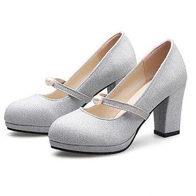 RTRY Boda Mujer Zapatos De Cuero De Nubuck Paillette Confort Casual Primavera Parte &Amp; Noche Comodidad Plata Oro 4A-4 3/4 Pulg. US5.5 / EU36 / UK3.5 / CN35