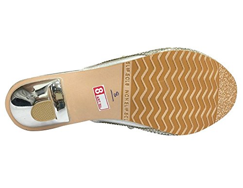 Step n Style, Sandali donna argento Silver