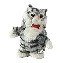 Pet Interactive Talking Cat Plush Toy - Talking & Moving Doll - Grey