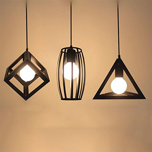 Xnferty Industrial Vintage Pendant Light Cover Shade Metal Hanging Fixture Covers Light for Restaurant Bar Hallway Wedding Kids Room Christmas party Without lights (Style E)