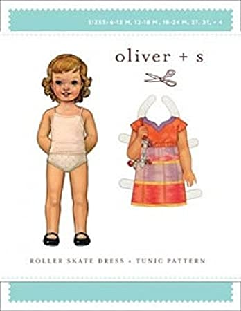 Oliver + S Mädchen Einfache Schnittmuster Roller Skate Kleid: Amazon ...
