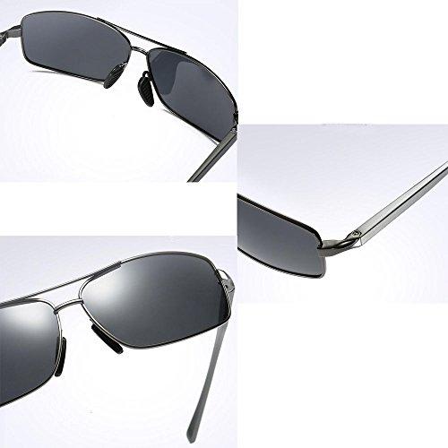 polarisées de métal hommes gray pour hommes Lunettes pour hommes d'affaires soleil soleil de classiques Lunettes en noir de Lunettes pour sport 0PRzOIx
