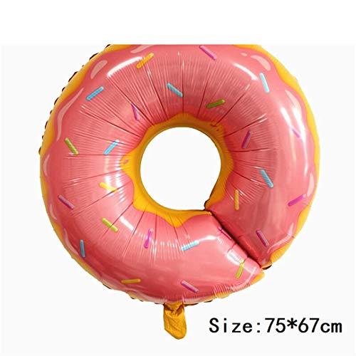 FOIBALDECO Food Foil Balloon Birthday Party Decoration Spun Sugar Donut Pizza Ballon Cartoon Hamburger Gift Inflate 15