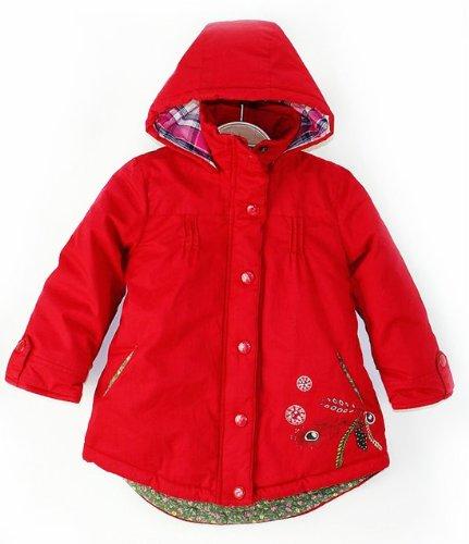 SOPO Toddler Girls Leopard Faux Fur Coat Winter Jacket 2t-5t