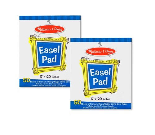 Melissa & Doug Easel Pad Bundle 50 Sheets 2-Pack