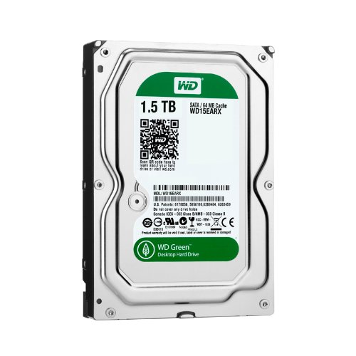 1.5 Tb Desktop - WD Green 1.5 TB Desktop Hard Drive: 3.5 Inch, SATA III, 64 MB Cache - WD15EARX