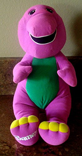 Barney the Dinosaur Vintage 1992 Talking Interactive Plush - Sits 15 - With Barney Glasses