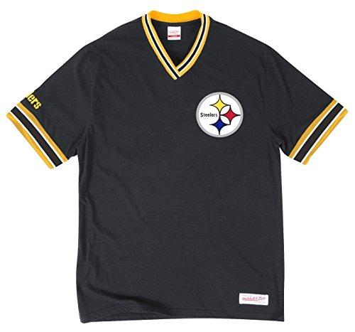 Pittsburgh Steelers NFL Men's Overtime Win Vintage V-Neck T-Shirt Jersey (Era Vintage Jersey)