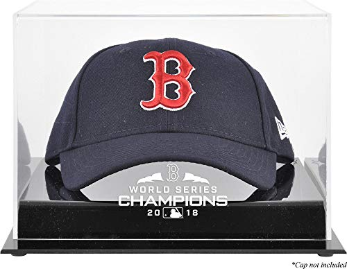 Sports Memorabilia Boston Red Sox 2018 MLB World Series Champions Acrylic Logo Cap Display Case - Baseball Hat Logo Display ()